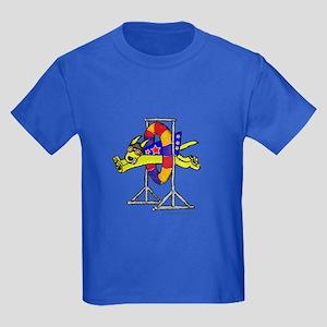 Super Doggie Jump Kids Dark T-Shirt
