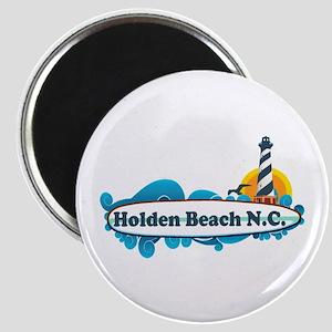"""Holden Beach NC """"Lighthouse"""" Design Magnet"""