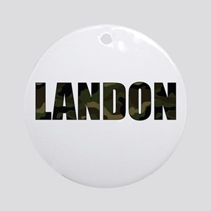 Camo Landon Ornament (Round)