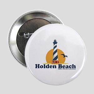 """Holden Beach NC """"Lighthouse"""" Design 2.25"""" Button"""