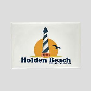 "Holden Beach NC ""Lighthouse"" Design Rectangle Magn"