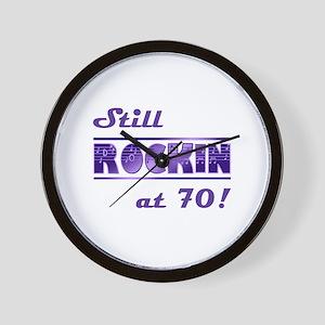 Still Rockin At 70 Wall Clock