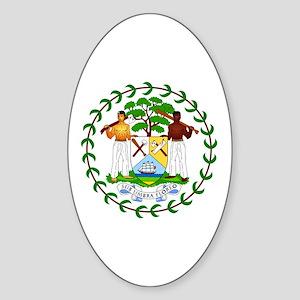 Belize Coat of Arms Emblem Sticker (Oval)