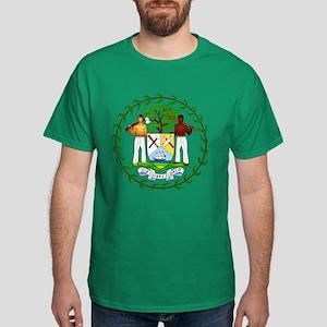 Belize Coat of Arms Emblem (Front) Dark T-Shirt