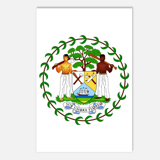 Belize Coat of Arms Emblem Postcards (Package of 8