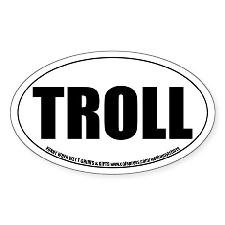 Troll Role-playing Oval Sticker
