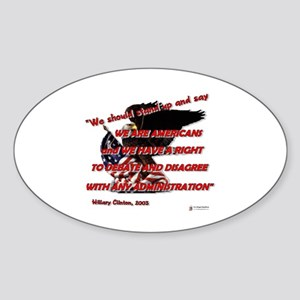 A Right to Debate Sticker (Oval)