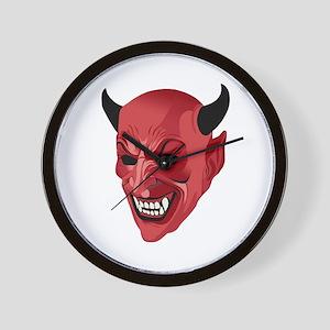 Devil mask Wall Clock