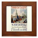 Buy US Government Bonds Framed Tile