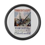 Buy US Government Bonds Large Wall Clock