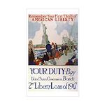 Buy US Government Bonds Sticker (Rectangle)