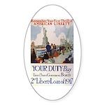Buy US Government Bonds Sticker (Oval)