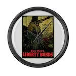 Buy More Liberty Bonds Large Wall Clock