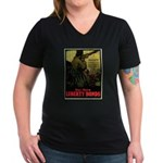 Buy More Liberty Bonds Women's V-Neck Dark T-Shirt