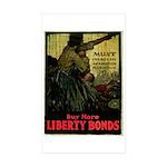Buy More Liberty Bonds Sticker (Rectangle 10 pk)