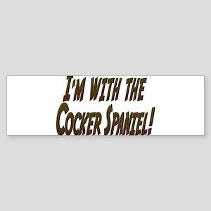 I'M WITH THE... Sticker (Bumper)