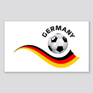 Soccer GERMANY Ball Sticker (Rectangle)