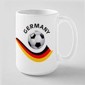 Soccer GERMANY Ball Large Mug