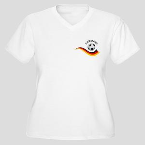 Soccer GERMANY Ball Women's Plus Size V-Neck T-Shi