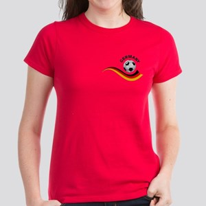 Soccer GERMANY Ball Women's Dark T-Shirt