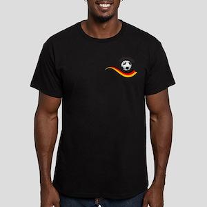 Soccer GERMANY Ball Men's Fitted T-Shirt (dark)