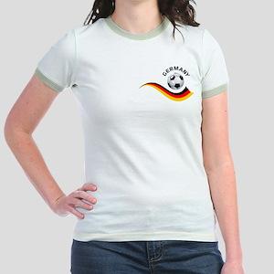 Soccer GERMANY Ball Jr. Ringer T-Shirt