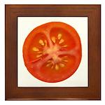 Grape Tomato Framed Tile
