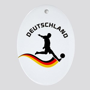 Soccer DEUTSCHLAND Player Ornament (Oval)