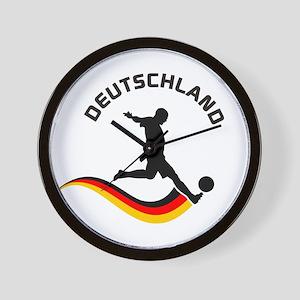 Soccer DEUTSCHLAND Player Wall Clock