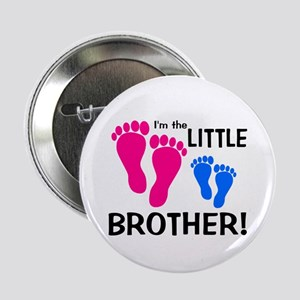 """Little Brother Baby Footprint 2.25"""" Button"""