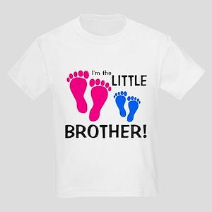 Little Brother Baby Footprint Kids Light T-Shirt