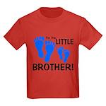 Little Brother Baby Footprint Kids Dark T-Shirt