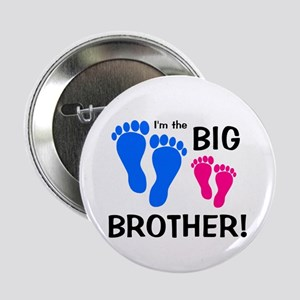 "Big Brother Baby Footprints 2.25"" Button"
