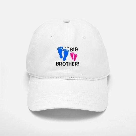 Big Brother Baby Footprints Baseball Baseball Cap