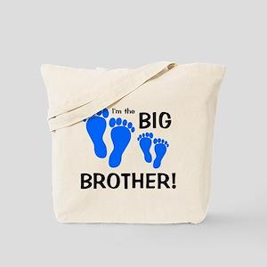 Big Brother Baby Footprints Tote Bag