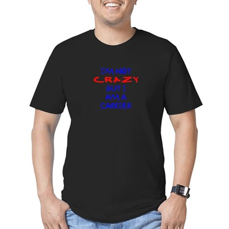 I'm not Crazy Men's Fitted T-Shirt (dark)