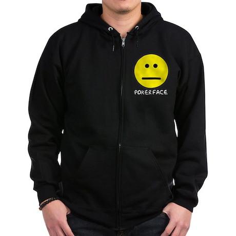 Poker Face Zip Hoodie (dark)