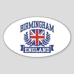 Birmingham England Sticker (Oval)