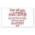 Kiss my Glutes Sticker (Rectangle)