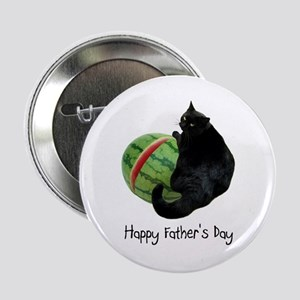 """Cat Watermelon Father's Day 2.25"""" Button"""