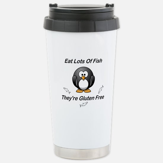 Eat Lots Of Fish Stainless Steel Travel Mug