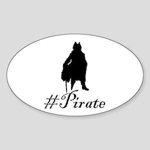 # Pirate Sticker (Oval)