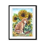 Sun Fox Framed Panel Print