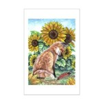 Sun Fox Mini Poster Print