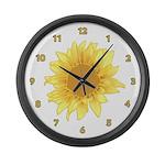 Elegant Sunflower Large Wall Clock