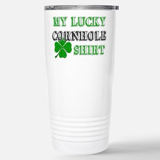 My Lucky Cornhole Shirt Stainless Steel Travel Mug
