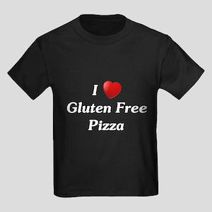 I Love Gluten Free Pizza Kids Dark T-Shirt