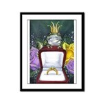 Frog Prince Framed Panel Print
