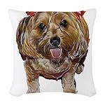 cutie poo Woven Throw Pillow