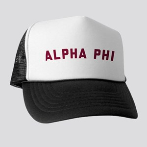 Alpha Phi Title Trucker Hat